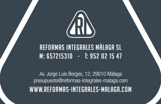 Reforma integral de viviendas y locales comerciales en Málaga y provincia por la empresa  Reformas Integrales Málaga SL